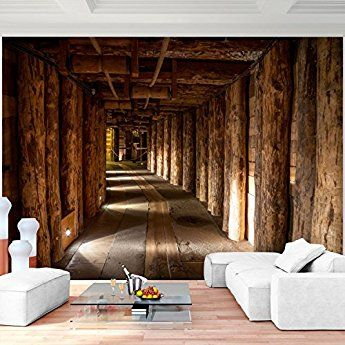 Fototapete 3d Holz Mine 352 X 250 Cm Vlies Wand Tapete Wohnzimmer Schlafzimmer Buro Flur Dekoration Wandbilder Xxl Tapete Wohnzimmer Fototapete Flur Dekoration