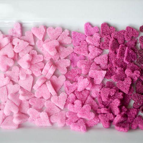 Ombré Valentine's Sugar Hearts