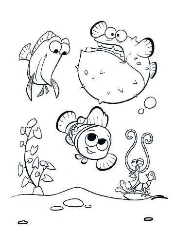 Imagenes De Nemo Para Dibujar Para Ninos Libro De Colores
