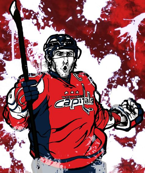 Hockey in art: Alex Ovechkin: Winter