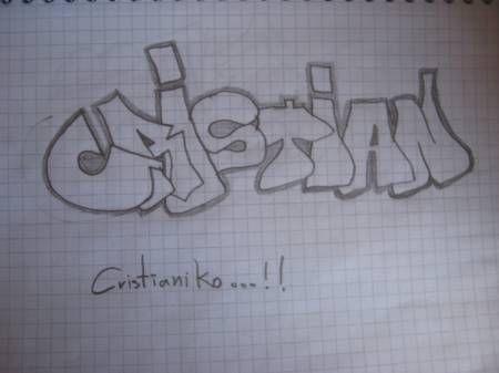 Graffitis De Nombres Cristian Imagui En 2020 Graffitis Nombres