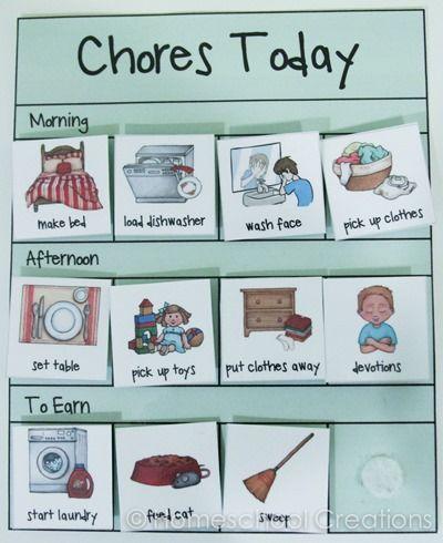 Boy Chore Card Dump Truck Cards Kids Child Weekly Reward Chart Clean Wash Teach