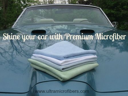 Shine Your Classic Car with Microfiber Cloths, #cruisenights #carshow (4 for $48) http://www.ultramicrofibers.com
