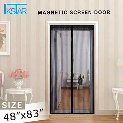 Ikstar Magnetic Screen Door With Heavy Duty Mesh Curtain Full Frame Magnetic Screen Door Screen Door Doors
