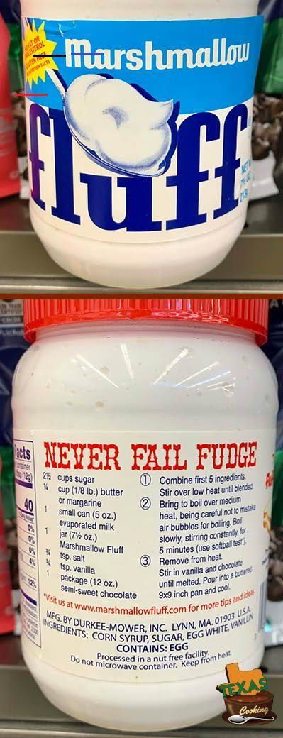 Never Fail Fudge Recipe From Marshmallow Fluff Marshmallowflufffrosting Never Fail Fudge Recipe Fudge Recipes Easy Fudge Recipes