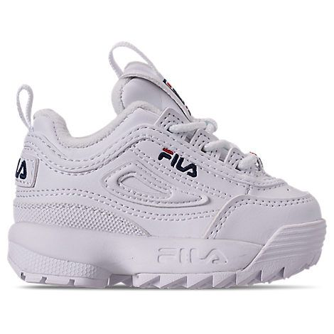 Fila Toddler Boys Disruptor 2 Casual Sneakers From Finish Line In White Modesens Toddler Shoes Casual Sneakers Toddler Boy Outfits