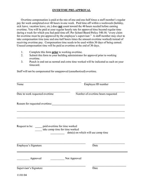 write requesting overtime letters sample download excel templates - overtime request form