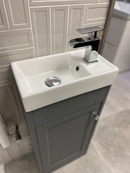 Shelbourne 400mm Traditional Cloakroom Vanity Unit Basin Matt Grey 19504 Bathshack In 2021 Cloakroom Vanity Unit Bathroom Styling Storage Design