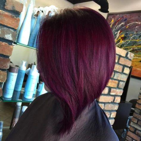 Haarfarbe lila rot mischen und Lila Und