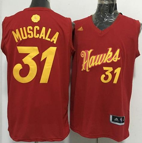 super popular 4ee26 2706c sweden hawks 31 mike muscala red 20162017 christmas day ...