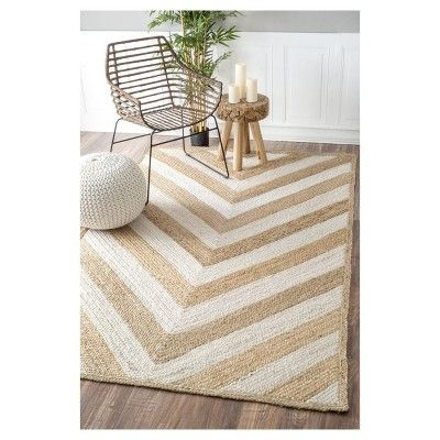 White Abstract Tufted Area Rug 5 X8