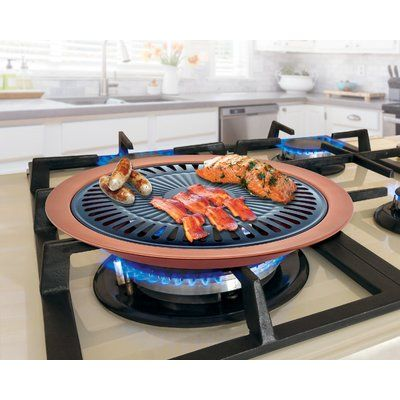 Imperial Home Non Stick Grill Pan Stove Top Grill Non Stick Grill Pan Cooking