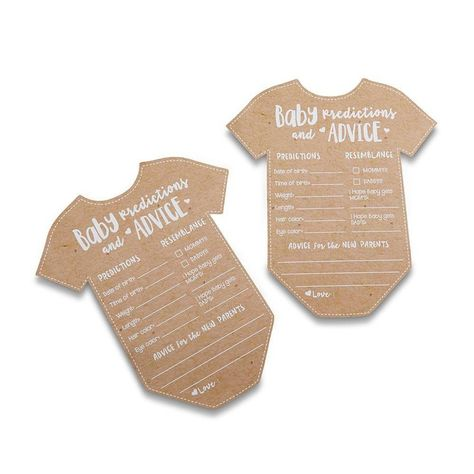 Kate Aspen Baby Prediction/Advice Card, Perfect Baby Shower Favors - Set of 50 Baby Shower Advice, Baby Shower Games, Baby Shower Parties, Shower Ideas, Baby Showers, Baby Shower Stuff, Bridal Showers, Shower Party, Shower Gifts