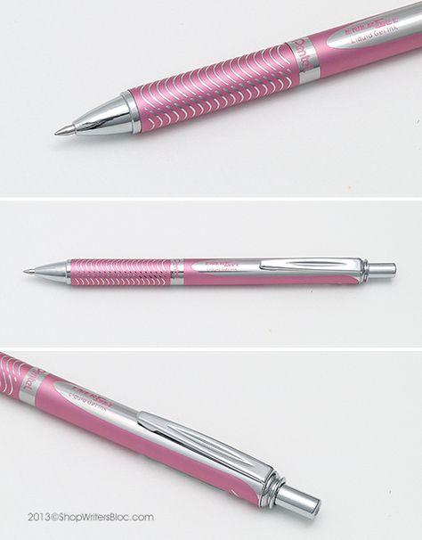 Pentel EnerGel Alloy RT BL407 Gel Pen - Metallic Pink