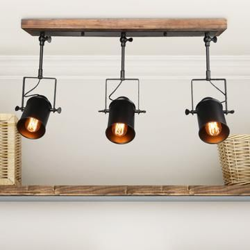Lnc Home Farmhouse Black Living Room Flush Mounts A03185 1 With