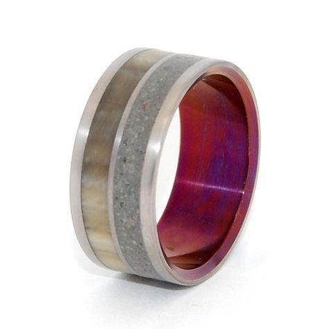 Juniper Flowers - Titanium Wedding Rings