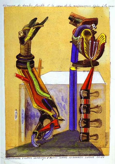 Max Ernst, The Slug Room, collage, gouache, tempera and ink, 1920