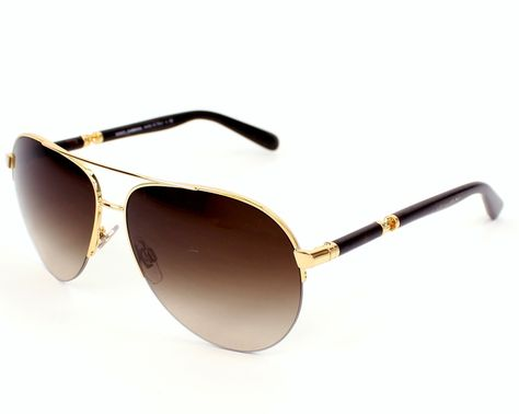 Dolce & Gabbana sunglasses for men, DG2115 02/13 - 58. This pair of sunglasses is made in Metal Gold - Havana with Brown Gradient lenses. UV filter / UV protection: 3.