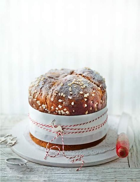 Lorraine Pascale's coffee and maple panettone http://www.sainsburysmagazine.co.uk/recipes/baking/special-occasion-cakes/item/coffee-and-maple-panettone