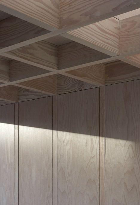 Doyle Gardens by Jonathan Tuckey Design. Wood lattice ceiling.