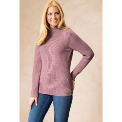 Walbusch Damen Pulli Normale Grossen Rose Einfarbig Warmend Walbusch In 2020 Walbusch Pullover Kaschmir Pullover