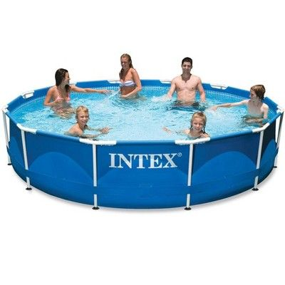 Intex 10ft X 30in Metal Frame Swimming Pool With Filter Pump Maintenance Kit Best Above Ground Pool Intex Portable Swimming Pools