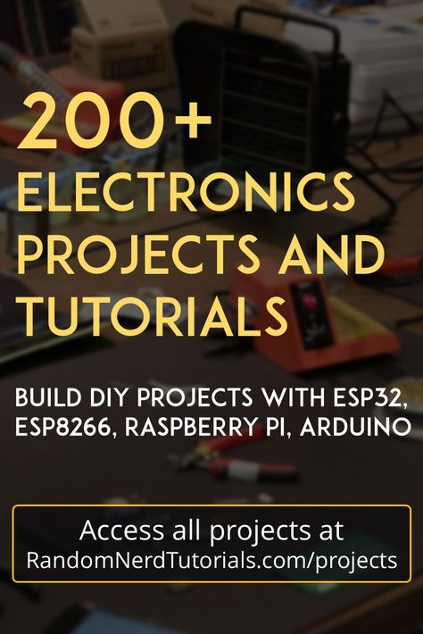 Welcome to our repository of electronics projects. We make electronics projects with ESP32, ESP8266, Arduino and Raspberry Pi related with Home Automation.