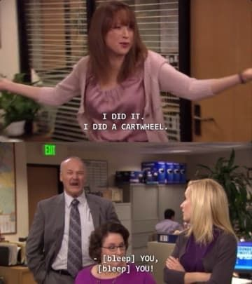 """When his inability to do a cartwheel caused him grief: Creed Was The Funniest Character On """"The Office"""" – Here's 29 Reasons Why Office Quotes, Office Memes, Funny Office, Creed The Office, Office Fan, Office Gossip, The Office Characters, Cartoon Characters, The Office Show"""