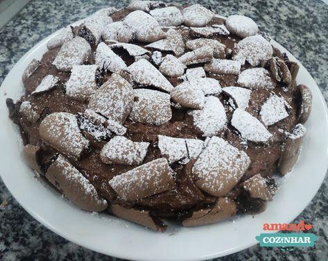 Torta mousse com suspiro de chocolate - Amando Cozinhar - Receitas, dicas de culinária, decoração e muito mais!