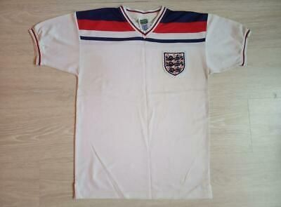 Football England 80 81 82 83 Home Shirt Score Draw Size S Kin In 2020 Retro Football Shirts Shirts Football Shirts