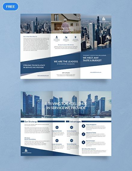 An A3 Tri Fold Brochure That Is Perfect For Promoting An Architectural Firm This Template Is Free To Download And Uses High Quality Layouts 인쇄 레이아웃 3단 리플렛 디자인