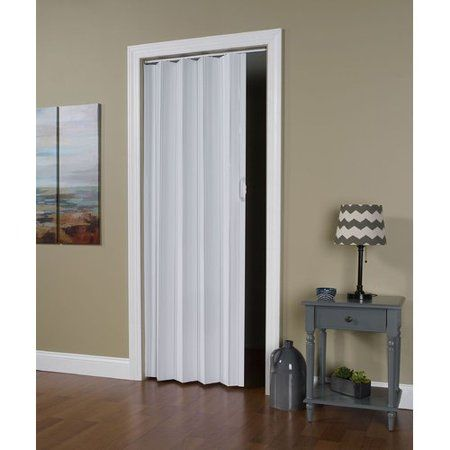 Homestyle Regent Vinyl Accordion Door 36 X 80 White Walmart Com Accordion Doors Accordion Folding Doors Doors Interior