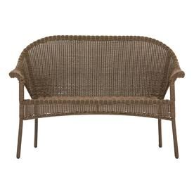 Terrific Garden Treasures Valleydale Woven Outdoor Loveseat With Pdpeps Interior Chair Design Pdpepsorg