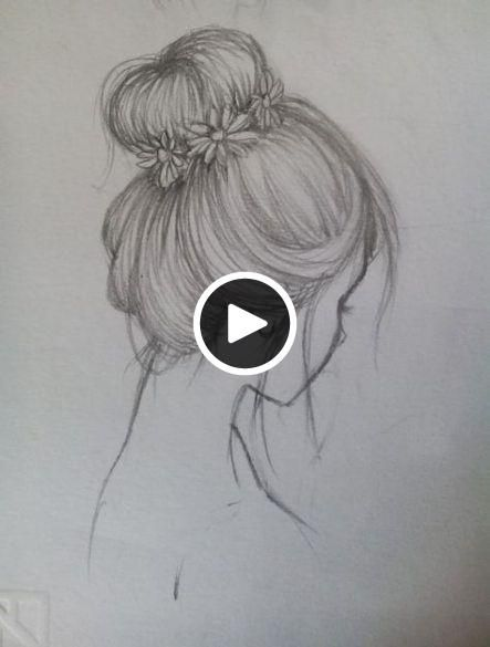Trendy Hair Drawing Hairstyles Messy Buns 25 Ideas Messy Bun Hairstyles How To Draw Hair Drawing Artwork