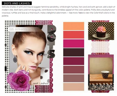 Spring/Summer 2015 Intimate Trends - color palettes. Beauty and fashion.