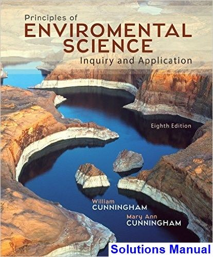 Principles of Environmental Science 8th Edition Cunningham