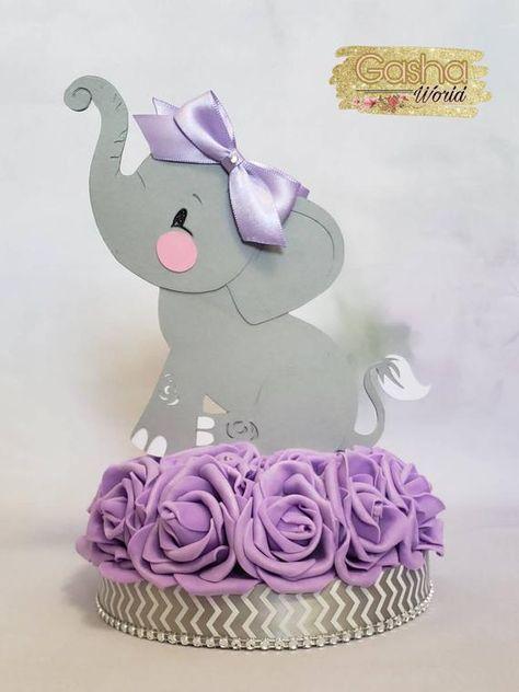 1 pc Elephant Cake Topper/ 1pc Elephant Centerpiece/ Elephant   Etsy