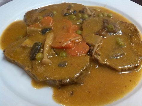 Redondo De Ternera En Salsa Ternera En Salsa Ternera Con Setas Recetas Con Carne