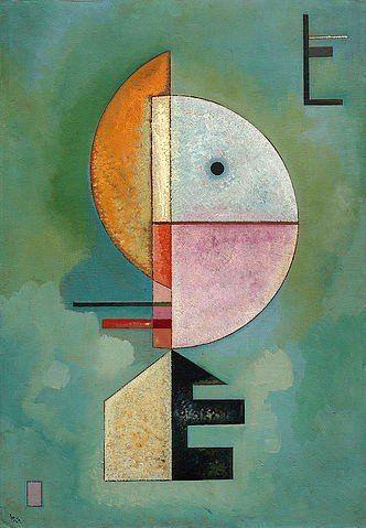empor 1929 von wassily kandinsky 205270 abstrakte kunst geometrische malerei bekannte künstler bild abstrakt blau