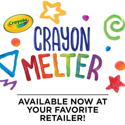Create art with melted wax using the all new Crayola Crayon Melter! You can design melted crayon crafts, decorative signage, pixel art, and so much more. What will you design?