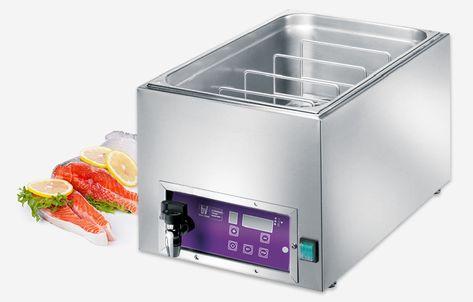 Cucine In Acciaio Inox Usate.Bagno Termostatico Per La Cottura Sottovuoto A Bassa Temperatura
