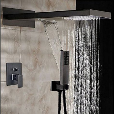 Pin On Bronze Square Rain Shower Head Faucet Valve Mixer Tap