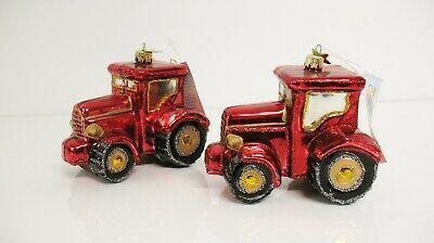 2 Red Tractor Farm Equipment Christmas Tree Ornaments New Free Shipping Scc Ebay Christmas Tree Ornaments Large Christmas Tree Red Tractor