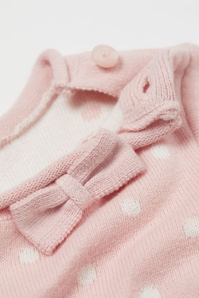 Fine Knit Cotton Sweater Light Pink White Dotted H M Us In 2020 Cotton Sweater Sweater Layering Knit Cotton