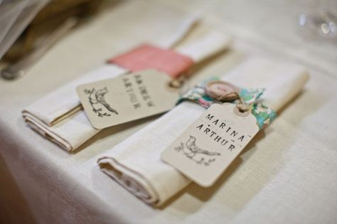 Pretty fabric napkin rings with buttons Napkins Napkin rings
