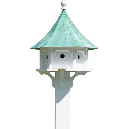 Lazy Hill Farm Designs Carousel Bird House Blue Verde Copper And Vinyl Walmart Com In 2020 Bird House Farm Design Bird Houses Diy