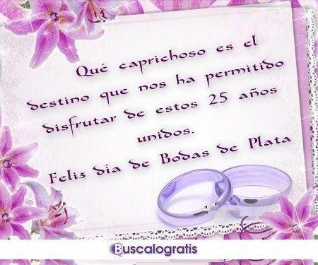 Frases Para Felicitar El 25 Aniversario De Casados Mensaje De Aniversario Felicitaciones De Aniversario De Bodas Frases Bodas De Oro