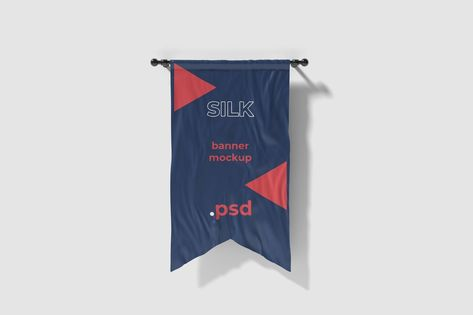 Cut in silk flag mockup by graphiccrew on Envato Elements