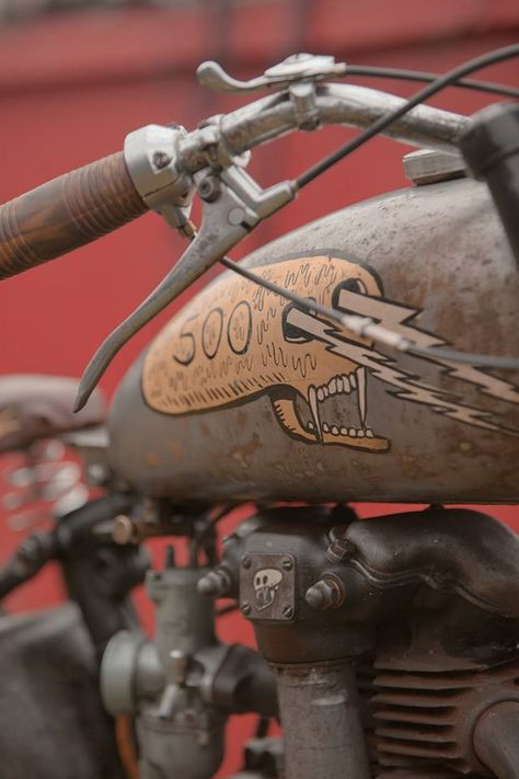 "custom BSA called ""Lazer Death"" by Corpses From Hell #motorcycle #motorbike"