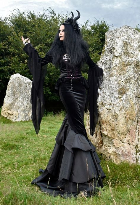 Vale of Tears Skirt - steamed velvet and taffeta Morticia vamp goth steampunk skirt by Moonmaiden Gothic Clothing